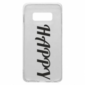 Etui na Samsung S10e Happy, napis