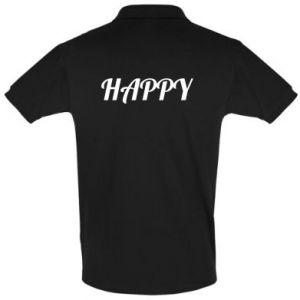 Koszulka Polo Happy, napis