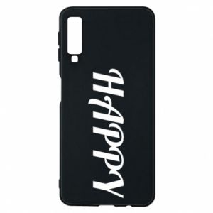 Phone case for Samsung A7 2018 Happy, inscription