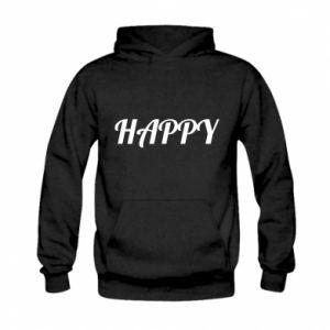 Bluza z kapturem dziecięca Happy, napis