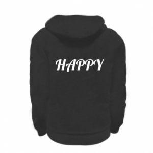 Bluza na zamek dziecięca Happy, napis