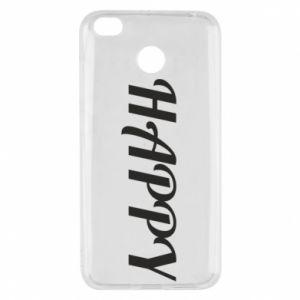 Etui na Xiaomi Redmi 4X Happy, napis