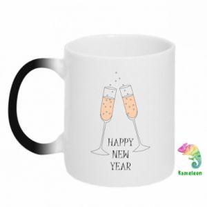 Kubek-kameleon Happy New Year