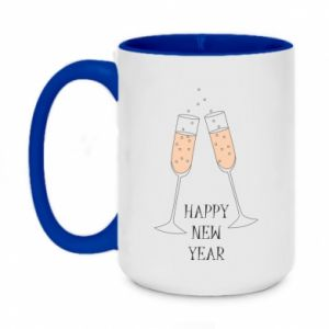 Two-toned mug 450ml Happy New Year