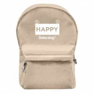 Plecak z przednią kieszenią Happy Saturday