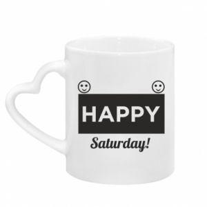 Kubek z uchwytem w kształcie serca Happy Saturday