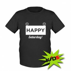 Dziecięcy T-shirt Happy Saturday