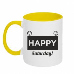 Kubek dwukolorowy Happy Saturday