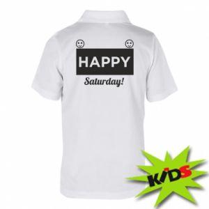 Dziecięca koszulka polo Happy Saturday