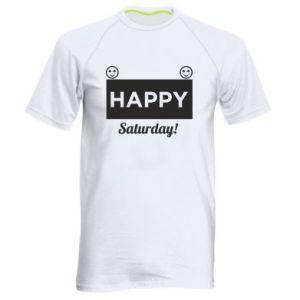 Męska koszulka sportowa Happy Saturday