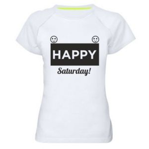 Damska koszulka sportowa Happy Saturday