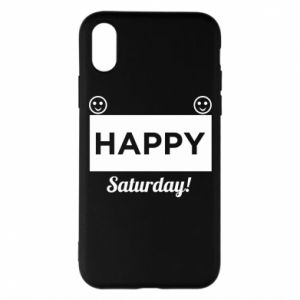 Etui na iPhone X/Xs Happy Saturday