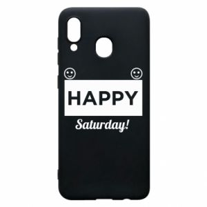 Etui na Samsung A20 Happy Saturday
