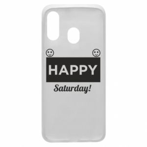 Etui na Samsung A40 Happy Saturday