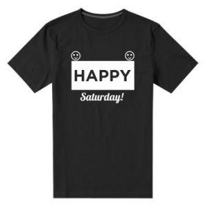 Męska premium koszulka Happy Saturday