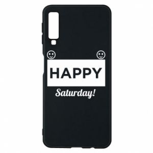 Etui na Samsung A7 2018 Happy Saturday