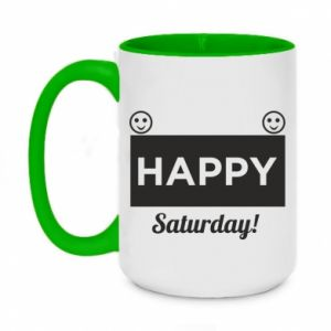 Kubek dwukolorowy 450ml Happy Saturday
