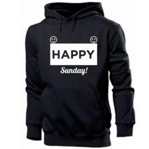 Męska bluza z kapturem Happy Sunday