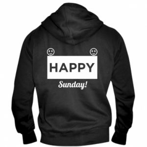 Męska bluza z kapturem na zamek Happy Sunday