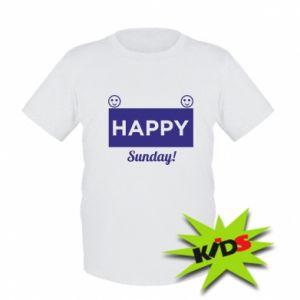 Dziecięcy T-shirt Happy Sunday