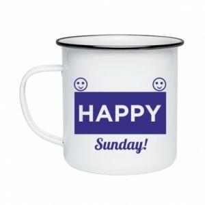 Kubek emaliowane Happy Sunday