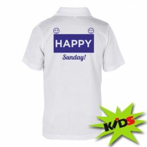 Dziecięca koszulka polo Happy Sunday