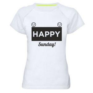 Damska koszulka sportowa Happy Sunday