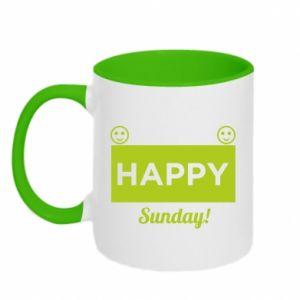 Kubek dwukolorowy Happy Sunday