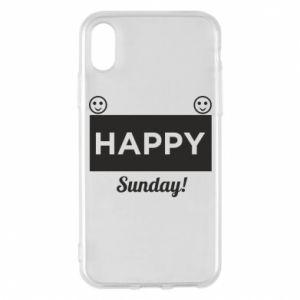 Etui na iPhone X/Xs Happy Sunday
