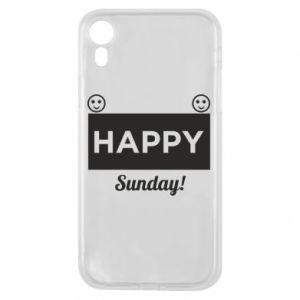 Etui na iPhone XR Happy Sunday