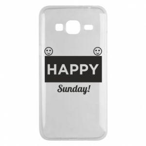 Etui na Samsung J3 2016 Happy Sunday