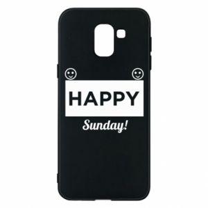 Etui na Samsung J6 Happy Sunday