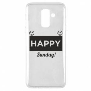 Etui na Samsung A6+ 2018 Happy Sunday