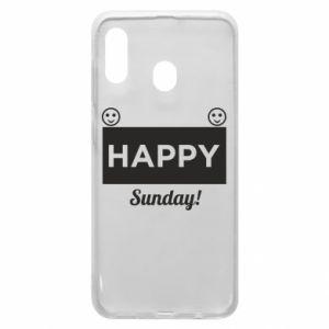 Etui na Samsung A20 Happy Sunday