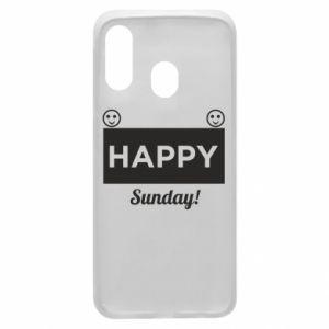 Etui na Samsung A40 Happy Sunday