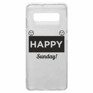 Etui na Samsung S10+ Happy Sunday