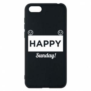 Etui na Huawei Y5 2018 Happy Sunday