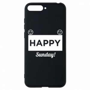 Etui na Huawei Y6 2018 Happy Sunday