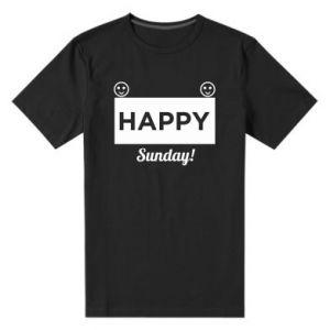 Męska premium koszulka Happy Sunday