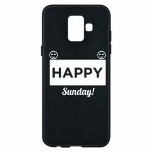 Etui na Samsung A6 2018 Happy Sunday