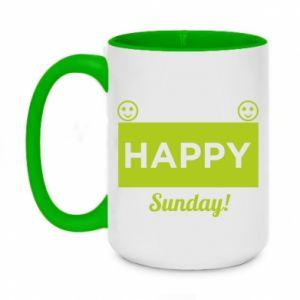 Kubek dwukolorowy 450ml Happy Sunday