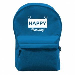 Plecak z przednią kieszenią Happy Thursday