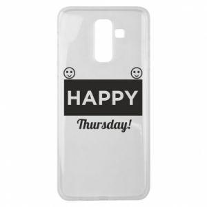 Etui na Samsung J8 2018 Happy Thursday