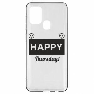 Etui na Samsung A21s Happy Thursday