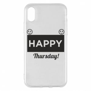 Etui na iPhone X/Xs Happy Thursday
