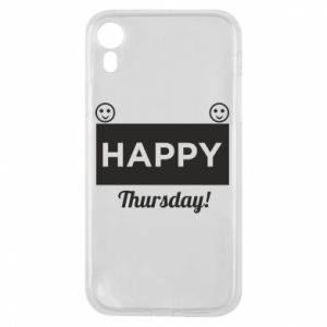 Etui na iPhone XR Happy Thursday