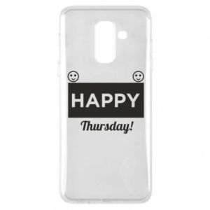 Etui na Samsung A6+ 2018 Happy Thursday