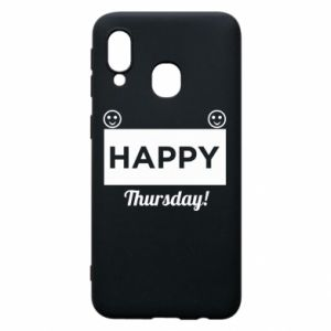 Etui na Samsung A40 Happy Thursday