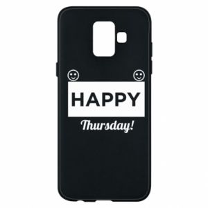 Etui na Samsung A6 2018 Happy Thursday