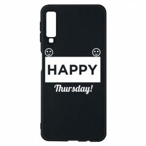 Etui na Samsung A7 2018 Happy Thursday